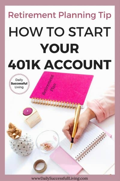 Retirement Planning Tip:  How to Start Your 401K Account