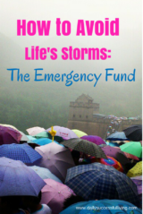 How to Avoid Life's Storms - The Emergency Fund - Why you need an emergency fund and how to start saving money to accomplish your goals.