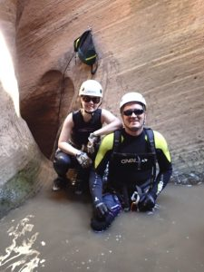 Aaron and I in Keyhole Canyon in Zion National Park