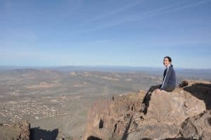 View of Phoenix from Flat Iron in Superstition Mountains