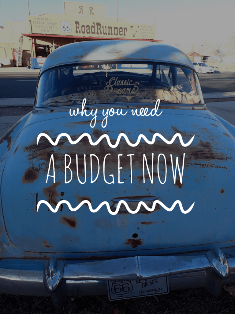 Why You Need a Budget Now
