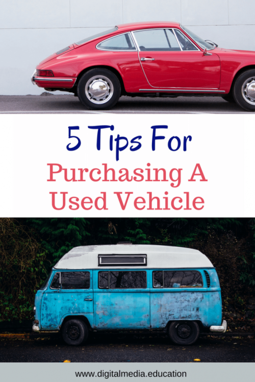 5 Tips for purchasing a used vehicle - I hate car shopping! These 5 tips will help make the car buying experience less stressful