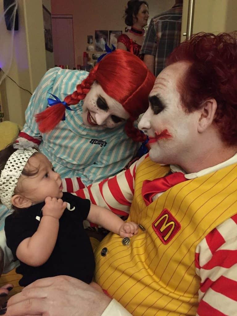 McDonalds & Wendy's Scary Halloween Costume