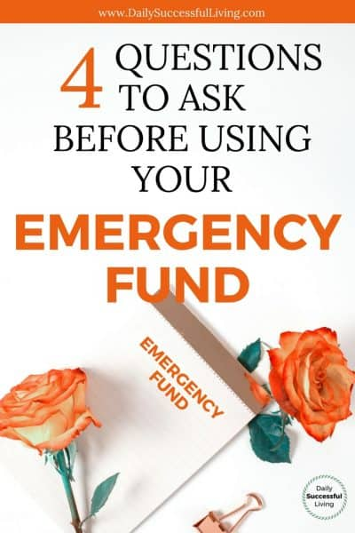 When Should I Use My Emergency Fund?