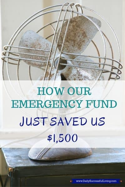 How our emergency fund saved us $1,500