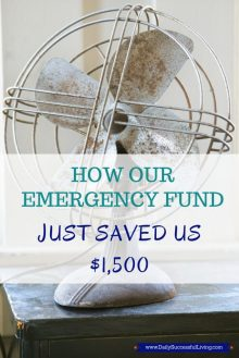How Our Emergency Fund Just Saved us $1,500 - Having an emergency savings plan helps save money when unexpected expenses occur