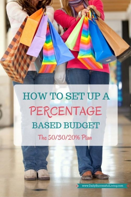 How To Set Up a Percentage Based Budget - The 50-30-20 Plan - Percentage budgets are the easiest budgets to set up and maintain