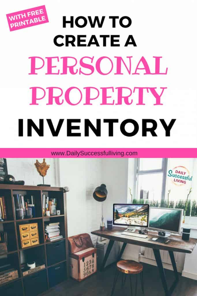 How to create your home inventory. Free Home inventory Printable to help you organize your personal property for your insurance company. Learn how to make a home inventory list that will include all the items in your home. Home inventory worksheet that will help you organize your home.
