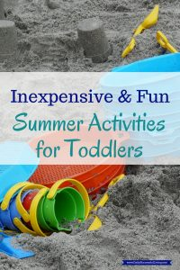 Creative DIY Summertime activities for toddlers you can do in at home. Cheap, fun indoor and outdoor activities with little to no prep time. TV Free activities for toddlers. Boredom busters for active kids. Fun activities to do at home on the weekends, rainy days, spring or fall break or during the summer.