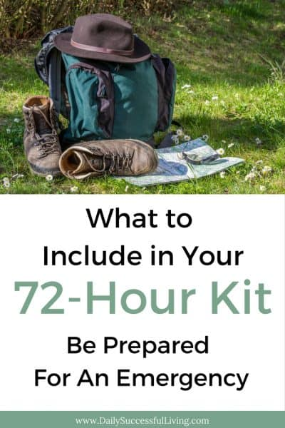 What To Include In Your 72-Hour Kit