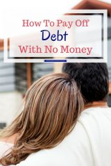 It is hard to pay off debt when you have no money. Learning to how to pay off debt when you have no money is the first step.