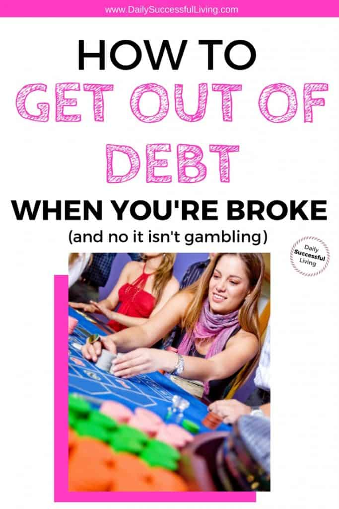 Getting out of debt when you are broke is really hard. I've done it and will never go into debt again. Learn the simple tips and tricks you need to start paying off your debt. Making the choose to pay off your debt is the best decision you can make for your financial future. Now is the time to get out of debt and learn to manage your money.