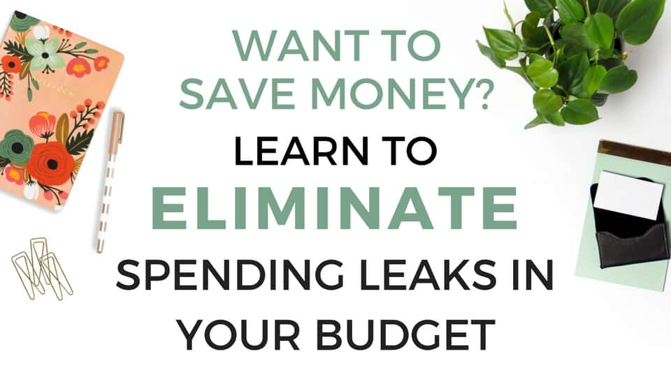 Trying to save money? Learn How to Eliminate Spending Leaks In Your Budget