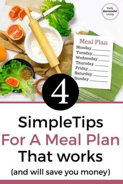 4 Tips For The Ideal Meal Plan
