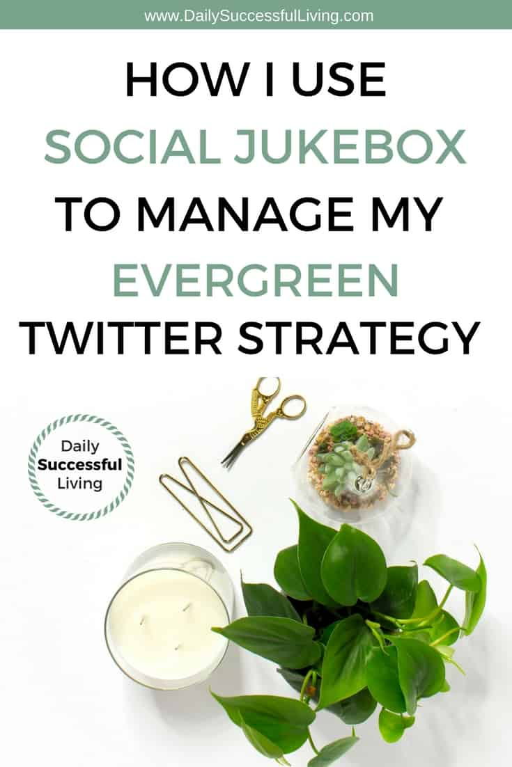 Are you struggling to manage your evergreen content for your small business or blog? I have hundreds of posts I like to share on Twitter, social jukebox is the most amazing tool over and my secret social media sharing system. #twittermarketing #evergreencontent #socialmediamarketing #bloggingtools