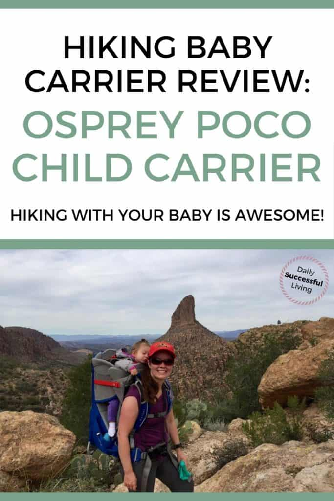 Ready to take you baby or toddler hiking? I love hiking with my baby. I started using the Osprey Poco baby carrier to carry my baby while hiking and absolutely love it. | Outdoor products for baby | traveling with a baby | Outdoor adventure with a baby | Hiking Tips for moms with little ones. | Best baby carrier for petite mom's | Best baby carrier for Dad #babyhiking #babycarriers #Ospreybabycarrier #toddlerhiking