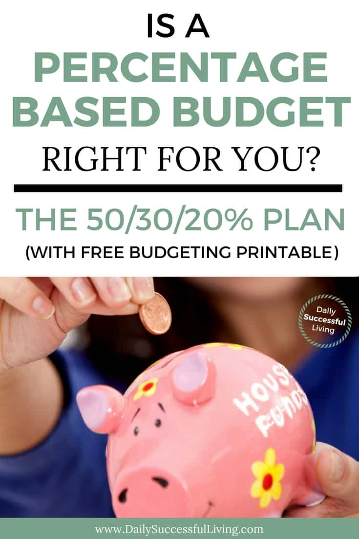 Why A Percentage Based Budget Plan Will Work For You
