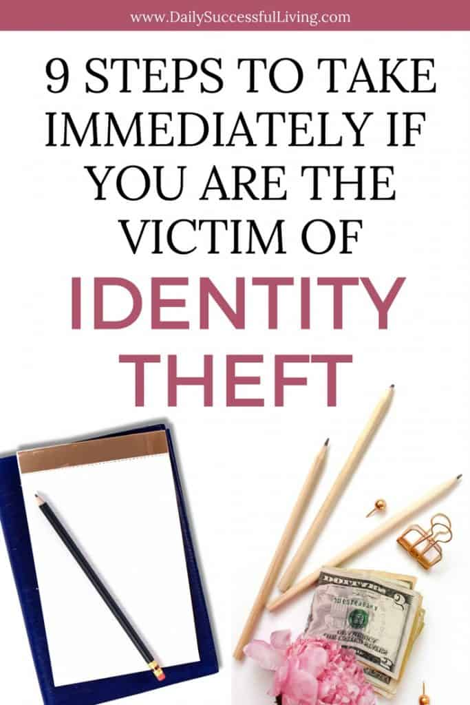 I am the victim of Identity Theft. It has seriously been the worst experience of my life. If your identity was stolen you need to immediate follow these nine steps protect yourself against further identity fraud. Don't become a statistic, learn to deal with the theft of your identity. #identitytheft #identityfraud