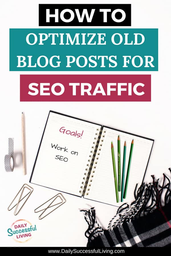 Are you struggling to learn SEO and as a result have old blog posts that need a little bit of revising. These 4 simple tips will help you optimize your existing blog posts to increase search engine traffic. I've included screenshots and tools that will help you increase your Google SEO Traffic