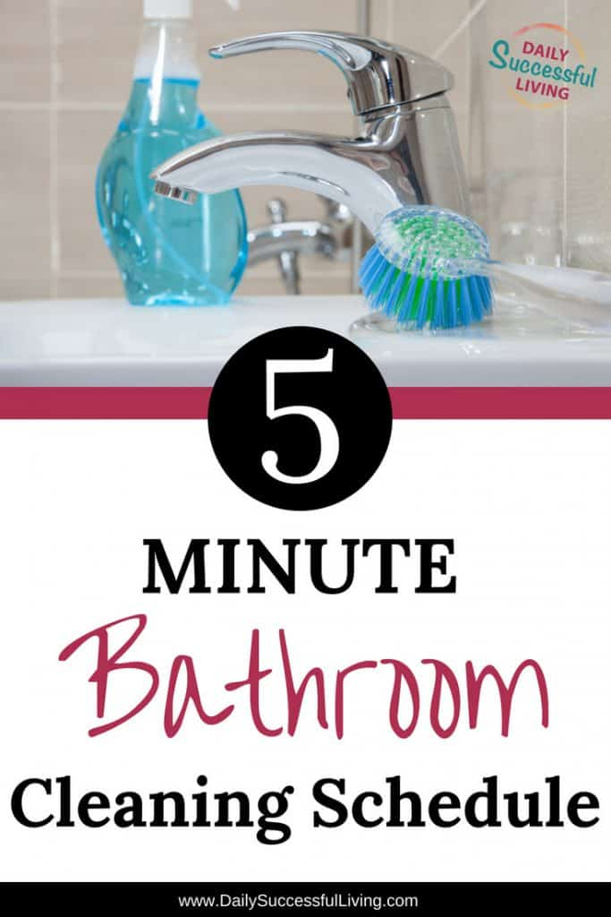 Minute Daily Bathroom Cleaning Schedule - Clean my bathroom