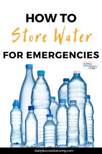 How to prepare for an emergency by properly storing water. Learn to store water for any emergency situation.