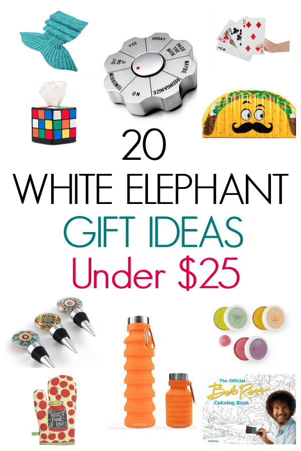 Do you need some creative ideas for your next White Elephant Gift Party, this post will help. Inexpensive white elephant gifts for under $25. Funny and creative White Elephant gifts for your next holiday party.